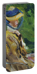 Last Portrait Of His Wife Suzanne., After Manet Portable Battery Charger by Michael Helfen