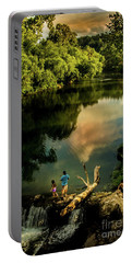 Portable Battery Charger featuring the photograph Last Seconds Of Summer by Robert Frederick