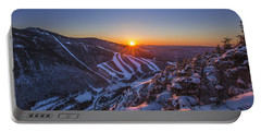 Last Winter Sunset Over Cannon Mountain Portable Battery Charger