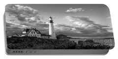 Late Afternoon Clouds, Portland Head Light  -98461 Portable Battery Charger