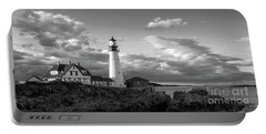 Late Afternoon Clouds, Portland Head Light  -98461 Portable Battery Charger by John Bald