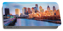 Late Afternoon In Philadelphia Portable Battery Charger