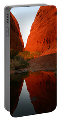 Late Afternoon Light And Reflections At Kata Tjuta In The Northern Territory Portable Battery Charger