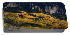 Late Afternoon Light On Aspen Groves At Silver Jack Colorado Portable Battery Charger