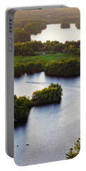 Portable Battery Charger featuring the photograph Late Afternoon On Lake Megunticook, Camden, Maine -43988 by John Bald