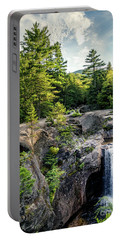 Portable Battery Charger featuring the photograph Late Afternoon, Screw Auger Falls, Newry, Maine #10100-10102 by John Bald
