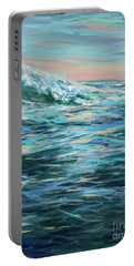 Late Afternoon Swim Left Portable Battery Charger
