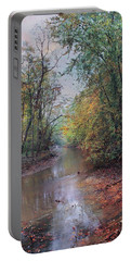 Late Autumn Afternoon Portable Battery Charger by John Rivera