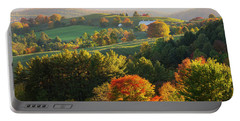 Late Day Fall Countryside Portable Battery Charger