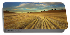 Portable Battery Charger featuring the photograph Late Harvest by Tim Bryan