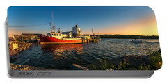 Late In The Day At Fisherman's Cove  Portable Battery Charger by Ken Morris
