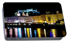 Portable Battery Charger featuring the photograph Late Night Stroll In Salzburg by David Morefield