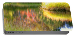 Stillness Of Late Summer Marsh  Portable Battery Charger