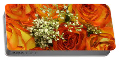 Late Summer Roses Portable Battery Charger by Dora Sofia Caputo Photographic Art and Design
