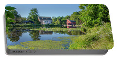 Late Summer - The Red Mill  On The Raritan River - Clinton New J Portable Battery Charger by Bill Cannon