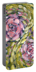 Portable Battery Charger featuring the digital art Late Summer Whirl by Holly Carmichael