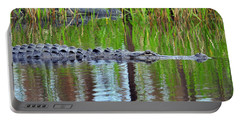 Portable Battery Charger featuring the photograph Later Gator by Al Powell Photography USA
