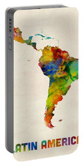 Latin America Watercolor Map Portable Battery Charger