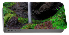 Latourell Falls Oregon Portable Battery Charger by Jonathan Davison