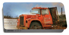 Portable Battery Charger featuring the photograph Latsha Lumber Truck by Lori Deiter