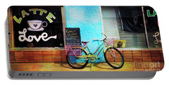 Latte Love Bicycle Portable Battery Charger