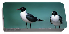 Laughing Gulls Portable Battery Charger by Sally Weigand