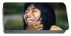 Portable Battery Charger featuring the photograph Laughing Out Loud by Heiko Koehrer-Wagner