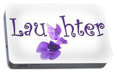 Portable Battery Charger featuring the digital art Laughter Shirt by Ann Lauwers