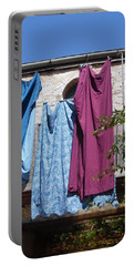 Laundry Art Portable Battery Charger by Esther Newman-Cohen