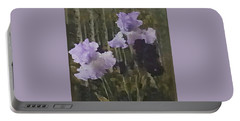 Laura's Irises Portable Battery Charger by Brenda Pressnall