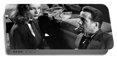 Lauren Bacall Humphrey Bogart Film Noir Classic The Big Sleep 1 1945-2015 Portable Battery Charger