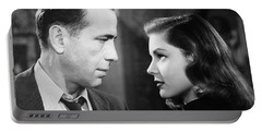 Lauren Bacall Humphrey Bogart Film Noir Classic The Big Sleep 2 1945-2015 Portable Battery Charger