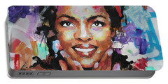 Portable Battery Charger featuring the painting Lauryn Hill by Richard Day