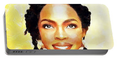Lauryn Hill Portable Battery Charger by Wayne Pascall