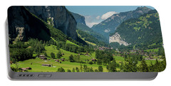 Lauterbrunnen Mountain Valley - Swiss Alps - Switzerland Portable Battery Charger by Gary Whitton