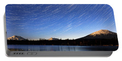 Portable Battery Charger featuring the photograph Lava Lake Star Trails by Cat Connor