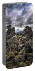 Lava Rock And Clouds Portable Battery Charger