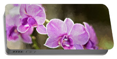 Portable Battery Charger featuring the photograph Lavendar Orchids by Lana Trussell