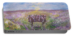 Portable Battery Charger featuring the painting Lavendar Wishes by Leslie Allen