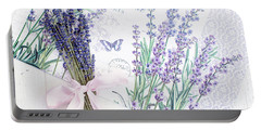 Portable Battery Charger featuring the photograph Lavende by Rebecca Cozart