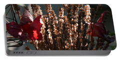 Lavender And Grape Leaves Illuminated By The Fall Sun Portable Battery Charger