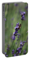 Lavender And Honey Bee Portable Battery Charger