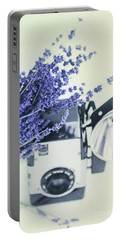 Lavender And Kodak Brownie Camera Portable Battery Charger