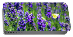 Lavender And The Heart Portable Battery Charger by Ryan Manuel