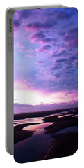 Lavender Beach Sunset Portable Battery Charger