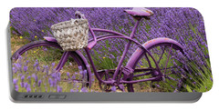 Lavender Bike Portable Battery Charger