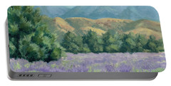 Lavender, Blue And Gold Portable Battery Charger