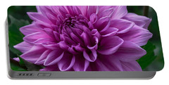 Lavender Dahlia Portable Battery Charger