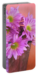 Lavender Daisies Portable Battery Charger