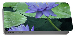 Portable Battery Charger featuring the photograph Lavender Enchantment by Byron Varvarigos